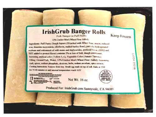 Pork Banger Roll 1lb Irish, Imported, Pork, Banger, Roll